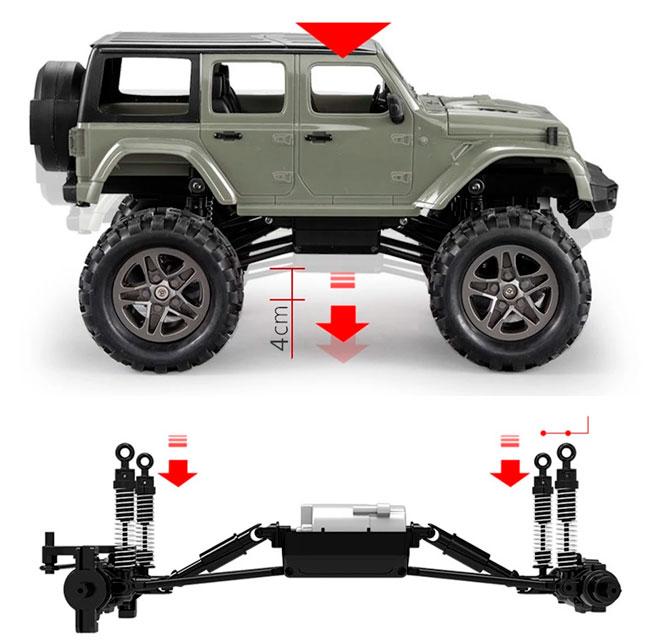 Crawler RC Jeep teledirigido