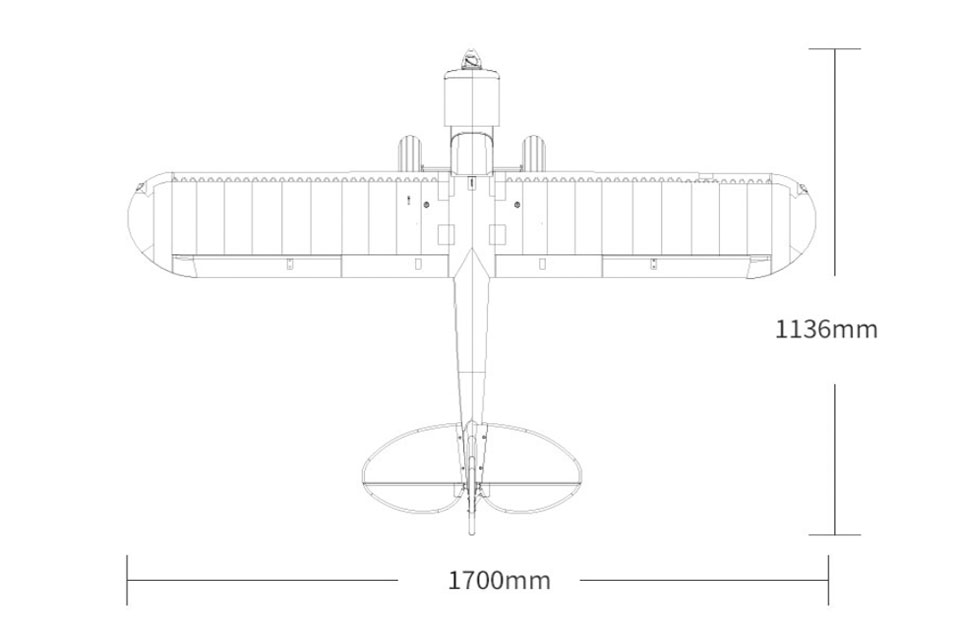 "Piper PA-18 Super Cub - FMS 1700mm (67"") Plano"