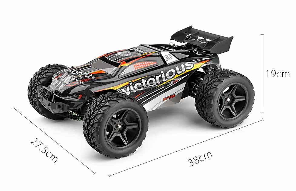 VICTORIOUS - Coche RC Truggy 1:12 2WD RTR (Hasta 35Km/h) medidas