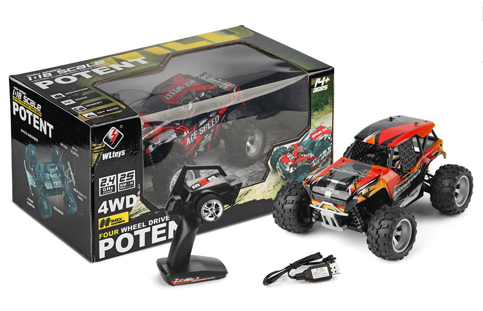 WILD POTENT - Coche RC 4x4 Packaging