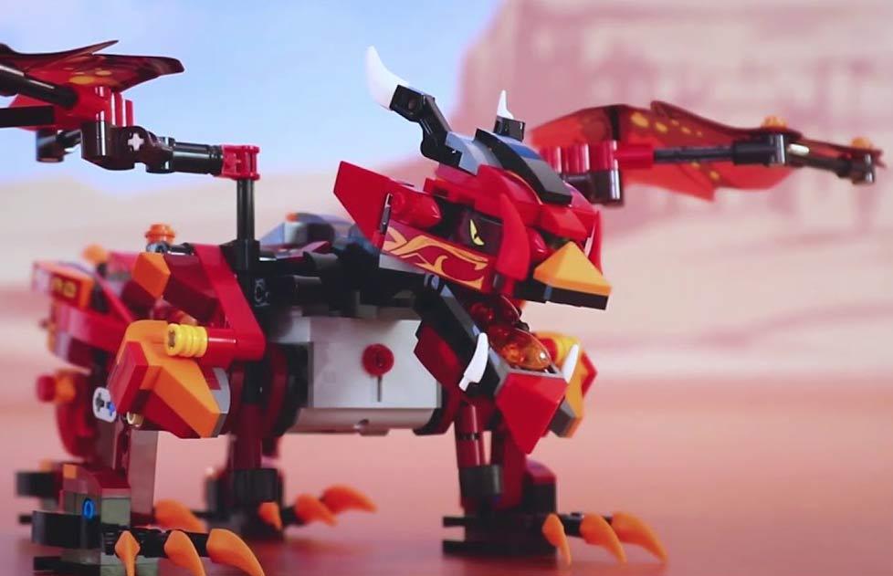 Dragón teledirigido para montar