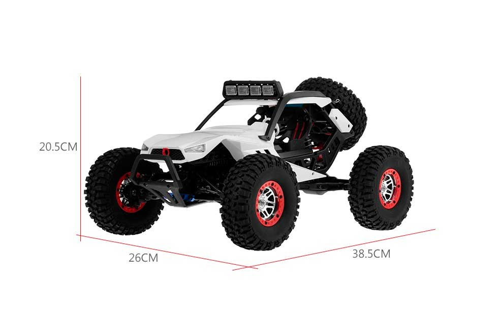 STORM - Coche RC 4x4 1:12 con Luces (Hasta 40km/h) Medidas