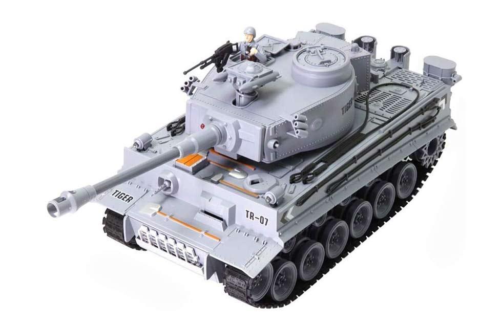 Tanque Rc Tiger 1:18 (Airsoft + Efectos + Humo)
