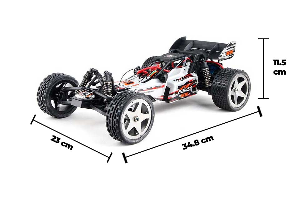 WAVE RUNNER - Coche RC Buggy RTR 1:12 Medidas