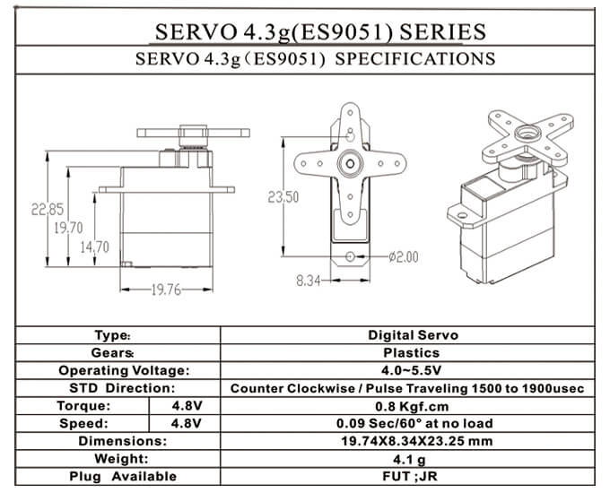 servo digital emax